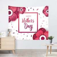 100*150cm Wall Tapestry Happy Mother Day Printed Square Yoga Mat Beach Towel Shawl Landscape Bedroom Decorations FWA4643