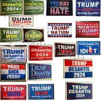 Donald Trump Bandiere 3x5 ft 2024 Make America Grande Florida Desaantis Bandiera Stati Uniti d'America Presidente Trump Won Banner Flags 90 * 150 cm