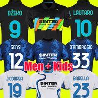 Inter milan camisa de futebol camisas de futebol VIDAL ERIKSEN LAUTARO ALEXIS SKRINIAR BARELLA 21 22 inter 2021 2022 maillot de foot kit homens + crianças