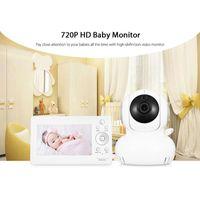 Fimei 5 بوصة 720P HD Wireless في اتجاهين الصوت الصوت درجة الحرارة إنذار الطفل مراقب شاشة LCD مع مراقبين للرؤية الليلية