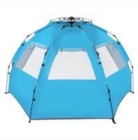 2022 Forniture per feste di evento Commercio all'ingrosso Foreglass Pole Oxford Panno Aperto GRATIS GRATIS GRATIS Tenda Beach Blue