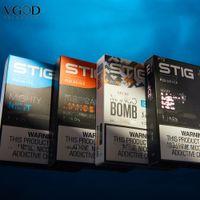 Autêntica VGOD Stig Disable POD Kit Electronic Cigarros Device 3PCS / Pack 270mAh Bateria totalmente carregada com cartucho de 1.2ml Penagem Vaping