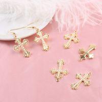 10pcs perles croix de charmes couleur en métal de métal pendentifs de charme Fit Fit Fit DIY Boucle d'oreille Bracelet Bijoux Accessoires YZ766