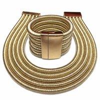 Collier Fermoir magnétique Nelace Convu une corde tressée multicouche en alliage à la mode exagérée