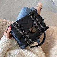 Shoulder Bags 2021 Pu Leather Rhombus Women's Messenger Casual Chain Crossbody Retro Totes Handbags Purse