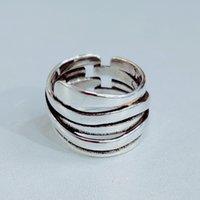 Personalità esagerata 925 sterling sterling sterling anelli geometrici irregolari per le donne di fidanzamento Girls Girls Open Finger anelli 872 T2