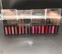 Mini Lip Gloss Matte Lipgloss Vermelho Rosa Marrom Nude Líquido Batom 4 Cores