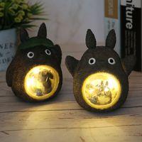 yutong Studio Ghibli Духи Душеные Фигуры Модель Светодиодный Ночной Легкий Игрушка Аниме Totoro Star Resin Home Украшения Детские Игрушки Подарок