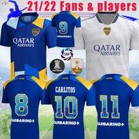 21 22 Boca Juniors Fans Jogador Alexis Soccer Jerseys Maradona Tevez de Rossi 2021 2022 Away Carlitos 3rd Camiseta Futbol Futebol Camisa