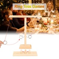 Handmade Wooden Ring Toss Game Rings Throwing Hooks Fast-paced Interactive For Bars Home Party Puzzle Games Toys Set Decor Decorative Object