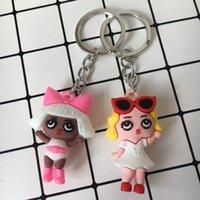 Cartoon Puppe Schöne junge Mädchen Soldaten Tasche DIY Anhänger PVC Key Ring Anhänger Silikon Kleines Geschenk