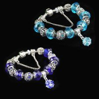 Link, Chain Fashion Women Charms Beads Bracelets Purple Crystal Pendant Original Trendy Bracelet Bangle For Party Gifts Jewelry Diy