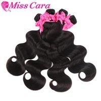 Human Hair Bulks 4 Bundles Brazilian Body Wave Weave 100% Extensions Natural Color Miss Cara Remy Weaving