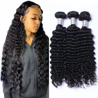 Malaysian Deep Wave Bundles 3 4 Pieces Curly Human Hair Weaves Double Drawn 100% Natural Unprocessed Extensions Non Remy