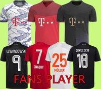 2021 2022 fãs Versão do jogador Sane Lewandowski Coman Gnabry Alaba Davies Muller Kimmich futebol Jersey HR 21 22 Camisa de Futebol Homens uniformes Bayern de Munique