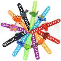 Детский браслет игрушка вечеринка благоприятная детская душ Kawaii аксессуары мультфильм динозавр детский браслет резиновый геометрический сплошной цвет 1715 q2
