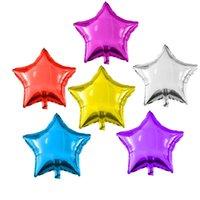 Decoración de la fiesta 10 unids / lote 10 pulgadas de estrella del corazón de la estrella Globos de la boda Cumpleaños de la boda Decoración de la decoración de la decoración de los globos de los globos del niño del aire del aire