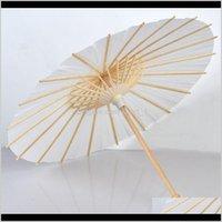 우산 가정용 잡화 가정 정원 드롭 배달 2021 수제 웨딩 DIY 우산 지름 60cm 일반 흰색 컬러 종이 파라솔