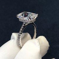 RUDIAT RUT 3CT Лабораторное бриллиантовое кольцо 925 Стерлинговое серебро BIJOU Обручальное кольца свадьбы для женщин Bridal Party Jewelry 885 Q2