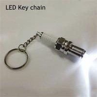 캐주얼 패션 LED 키 체인 점화 플러그 키 체인 키 체인 자동차 부품 열쇠 고리 키 체인 드라이브 안전 키 체인