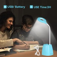 Table Lamps Led Lamp Light 3 Colors Changeable Touch Dimmable Desk Reading Lights Flexible For Study Work Bedroom USB Charge