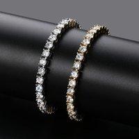 Bracelets التنس مجوهرات 2021 جديد أزياء فاخرة الجودة الجودة 5 ملليمتر الزركون الهيب هوب رائعة 18 كيلو الذهب مطلي سلسلة LBR073