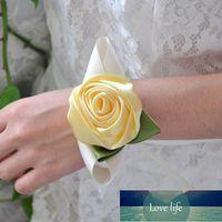 Wedding Wrist Corsage Bride bridesmaid DIY Silk bracelet decorations women girl wrist flower Party prom accessories TB001