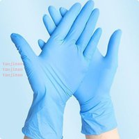 The In Stock 100Pcs Disposable Gloves Nitrile Latex Gloves Dishwashing Home Service Catering Hygiene Kitchen Garden Cleaning Gloves Wholesal