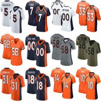 "5 Teddy Bridgewater 58 von Miller 31 Justin Simmons Custom Football Trikots Jerry Jeudy Denver ""Drew Lock Broncos"" Noah Fant Eleway Patrick Satain II K.J. Hamler"