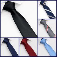 Вырека галстуки роскошь качество дизайнера черный галстук без мужской корейской моды ленивый 5см студентка рубашка Zipper академия платье DK женщин JK