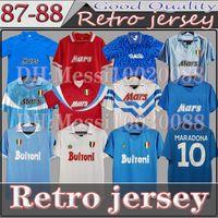 Maradona Napoli retro futbol forma klasik haraç 1986 1987 1988 1989 1990 1991 1992 1993 Napoli Vintage Futbol Gömlek