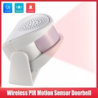 Smart Home Sensor Wireless PIR Motion Doorbell Anti Theft Chime Burglar Alarm Visitor Alert Door Bell For Shop Restaurant Security