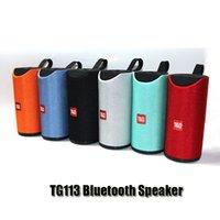 TG113 Altoparlanti wireless Bluetooth Bluetooth Subwoofer Portatile Subwoofer A vivavoce Profilo di chiamata Stereo Bass Supporto TF USB Card Aux Line in hi-fi rumoroso DHL