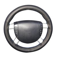 Black Artificial Leather Hand-stitched No-slip Car Steering Wheel Cover For Mondeo 3 2002 2003 2004 2005 2006 Covers