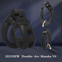 2021 Nouveau Dispositif de chasteté mâle 3D Mamba COBRA CAGE CAGE CAGE DOUBLE ARC BACK Bague Penis BeltTy Belty BDSM Adulte Sex Toys pour hommes