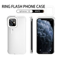 2021 For Iphone 12 PRO MAX Ring Flashing Beauty LED Halo Mobile Phone Case Light Selfie with 250mah Battery