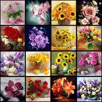 5D DIY Diamant Gemälde Blume Anordnung Blumen Vase Handgemachte Kreuzstich Kits Diamanten Stickerei Mosaik-Diamant Home Wandkunst Dekor