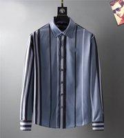 مصمم رجالي اللباس أزياء قميص عارضة العلامات التجارية الرجال ربيع الخريف سليم صالح قمصان القميص de marque pour homes3625