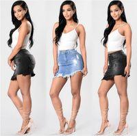 High Quality Not Cheap Women Blue Ripped Casual Denim Skirt Summer New Bodycon Women Skirt Basic Pocket Jeans Mid Waist Skirt