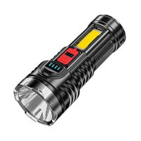 Flashlights Torches G5+cob Led Beads Portable With Built-in Lithium Battery Torch Usb Rechargeable Power Display For Outdoor Hik