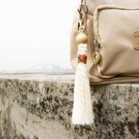 Bolsa de tasel de bricolaje cuelga anillos clave de nudo hecho a mano Keychain Fashion Jewelry Will y Sandy