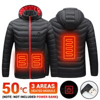 Men's Down & Parkas 3 Area Men Winter Electric Heated Jacket Hiking Ski Outerwear Hunting Clothing USB Vest Warm Motorcycle