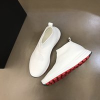 High quality casual autumn men's fashion show shoes luxury designer Men socks shoe black and white breathable mesh material with box are size38-44