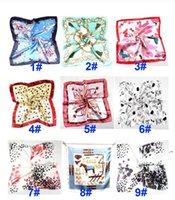 Verano otoño e invierno bufandas pañuelo hembra imitación wersatile profesional pequeño cuadrado seda bufanda OWD5925