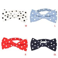 Dog Apparel Puppy Cat Collar Charms Bow Ties Adjustable Neck Strap Dots Necktie For Wedding Party Grooming
