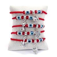 Bracelet à cordes rouges chanceux bleu turc mauvais oeil charme bracelets pour femmes hommes hangades bijoux amitié cadeaux
