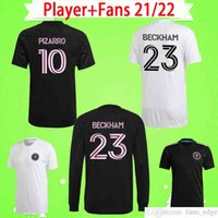 Jogador + fãs Versão 2021 2022 mls inter miami socer jerseys casa fora branco preto 21 22 beckham higuain matuidi cf pizarro camisa de futebol top uniformes