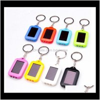 Keychains Oppohere Portable Outdoor Solar Power 3 Led Light Keychain Keyring Torch Flashlight Lamps Omzbq Kr7Et