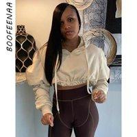 Women's Hoodies & Sweatshirts BOOFEENAA Stacked Long Sleeve Cropped Streetwear Fashion Women Tops Casual Cute Jumper Sweatshirt Pullover C85