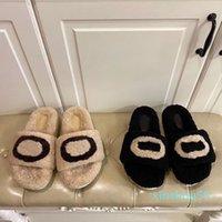 Designer Fashion Autunno e Inverno Alta qualità Pantofole da donna in lana di lana di alta qualità Stivali spessi morbidi taglia 35-40